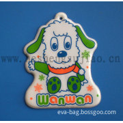 Plastic Key Chain of Hot Sealed Artwork (YJ-K002)