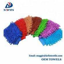 Beste verkaufende Microfiber Auto Fenster Reinigung Waschhandschuh Tuch 7 Farbe