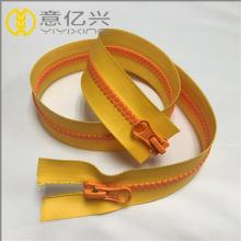 Resin plastic type waterproof zipper for bag