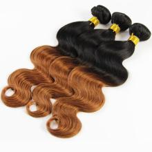 cheveux trame top qualité 5a grade cheveux brésiliens deux tone couleur