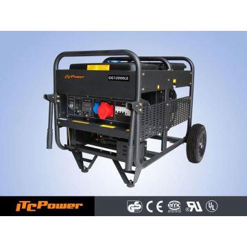 Générateur d'essence à air comprimé 12KVA, type ouvert, générateur d'énergie