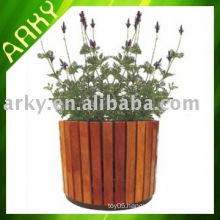 Wooden Garden Flower Pot