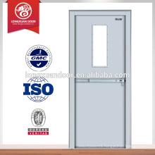 hot sales fire rated glass door, 30mins steel fire exit door