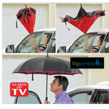 sun and rain uv protection car upside down double layer inverted umbrella