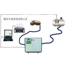 gas station tank monitor system liquid calibration