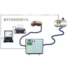Estação de gás subterrâneo óleo tanque líquido calibração