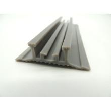 Maßgeschneiderte verschiedene Formen Hitzebeständige Extrusion Silikon-Gummistreifen