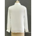 women's white chiffon shirt