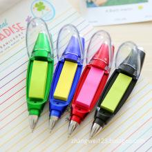 LED light ball pen creativity sling note paper