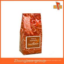 OEM Accepter le matériel d'emballage sac à café en aluminium à fond plat