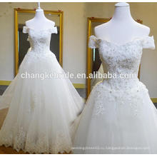Свадебное Платье Импорт Из Китая Плеча Кружева Съемный Хвост Зашнуровать Назад Свадебное Платье