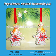 Personalized polyresin christmas hanging decoration with monkey design