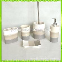 Западный дизайн бамбука формы керамической ванной набор