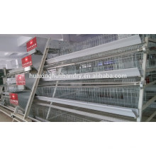 Cage de couche de poulet avec collecte automatique des œufs / alimentation automatique / boisson automatique / système automatique d'évacuation des fumiers