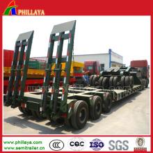 Mehrachsen-100-150 Tonne-halb LKW-niedriger Bett-Anhänger