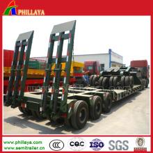 Multi Axis 100-150 tonnes Semi camion remorque à bas lit