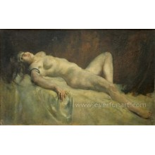 Portrait Nude Women Oil Painting for Home Decortaive Ebf-039