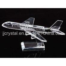 Cristal modelo de avión para la decoración de mesa o regalos