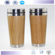 Hot Sale Outer Bamboo Travel Mug Starbucks Coffee Tumbler Mug,