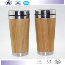 Venda quente exterior bambu caneca café Starbucks Tumbler caneca do curso,
