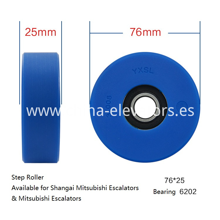 Step Roller for Mitsubishi Escalators 76*25*6202