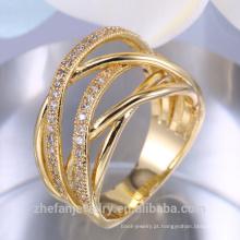 Venda quente Das Senhoras Dedo Design de Anel de Ouro Arábia Saudita Anel de Casamento de Ouro