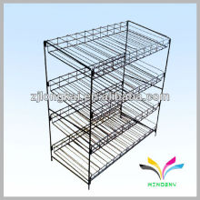 black 4 tier sturdy stackable metal wire paint can rack