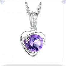 Collar de cristal colgante 925 joyas de plata esterlina (CN0007)