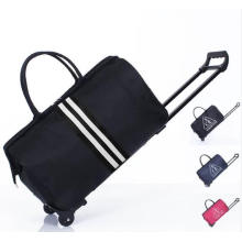V260 Fashion Brand Design Foldable Waterproof Duffel Travel Trolley Bag Luggage for Men and Women