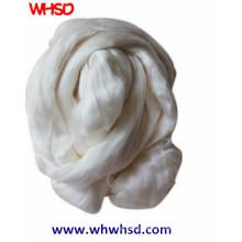 Fibre de soie 100% naturelle blanche