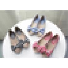 Stripe algodão lona mulheres sapatos casuais