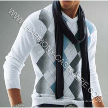 Jersey estampado de cachemir para hombres (HM-SW09017)