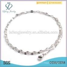 Silver stainless steel lips neck chain for ladies, wholesale meaningful pendant necklace