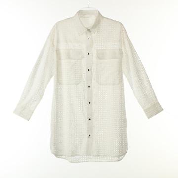 Хлопковые длинные рубашки с кнопками