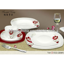 new year gift designed 60pcs 61pcs 72pcs dinner set A B grade pearl royal copenhagen dinnerware