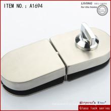 Armário redondo de porta de vidro de liga de zinco