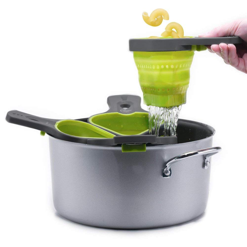 collapsible pasta strainer