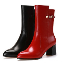Classical New Style Chunky Heel Women Boots
