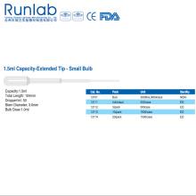 Pipetas de transferencia de bulbo pequeñas de 1.5ml con punta extendida
