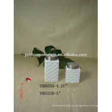Venta al por mayor de porcelana de cerámica Candy Almacenamiento Jar