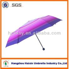 Bonito paraguas de tela de Pongee a rayas