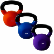 China Cheap 4-32kg Cast Iron Neoprene Kettlebell with Contoured Handles