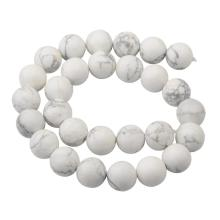 14MM Loose natural Gemstone Howlite Round Beads for Making jewelry