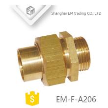EM-F-A206 Macho união bronze comum encaixe de tubulação porca giratória