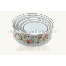 enamel storage bowl with PP lid