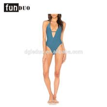 Neue Art- und Weisefrauen reizvolles einteiliges Mädchengelb-Parteibadebekleidung Neue Art und Weisefrauen reizvolles einteiliges Mädchengelb-Schwimmen-Partei