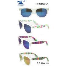 Colourful Flower Temple New Fashion Plastic Sunglasses (PS916)