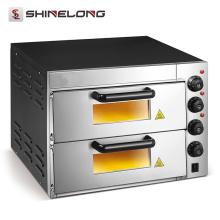 Équipement électrique professionnel de boulangerie de rendement élevé de Guangzhou 2 couches prix du four à pizza