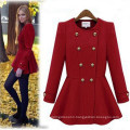 High Quality Casual Slimmming Woolen Flared Skirt Overcoat (50018)