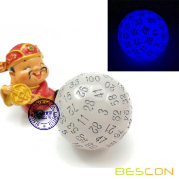 Bescon+Glow+in+Dark+Polyhedral+Dice+100+Sides%2C+Luminous+D100+die%2C+100+Sided+Cube%2C+D100+Game+Dice%2C+Glowing+100-Sided+Cube